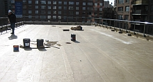 Kemperol Waterrproofing Membrane for green roof assembly at 808 Columbus Ave, NYC